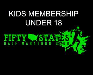 50 States Half Marathon Club Kids Membership