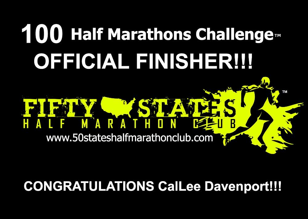 100 half marathons