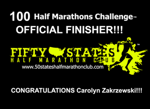 100 half marathons challenge finisher