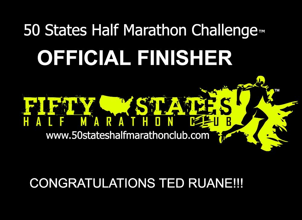 50 States Half Marathon Challenge finisher