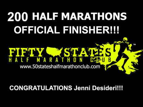 Jenni Desideri (San Francisco, California) Finishes 200th Half Marathon!