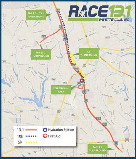 Discount to Race 13.1 Fayetteville - September in North Carolina