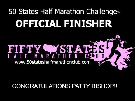 Patty Bishop (Lake Forest, California) 50 States Half Marathon Club