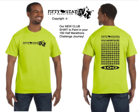 100 Half Marathons - Paint your Journey on our New Club Shirt Addition