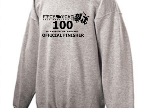 100 Half Marathons - Club Challenge of 50 States Half Marathon Club -Pre Order NEW FINISHER Apparel!