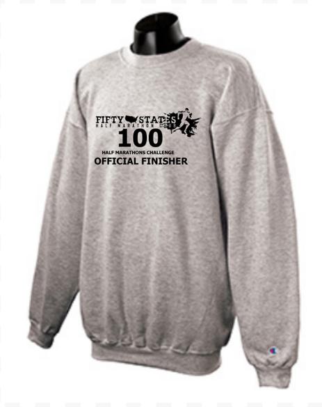 100 Half Marathons - Club Challenge of 50 States Half Marathon Club -Pre Order NEW FINISHER Apparel!