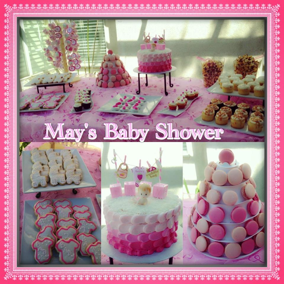 Pink Baby Theme Dessert Table