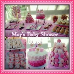 Pink Baby Theme Dessert Table