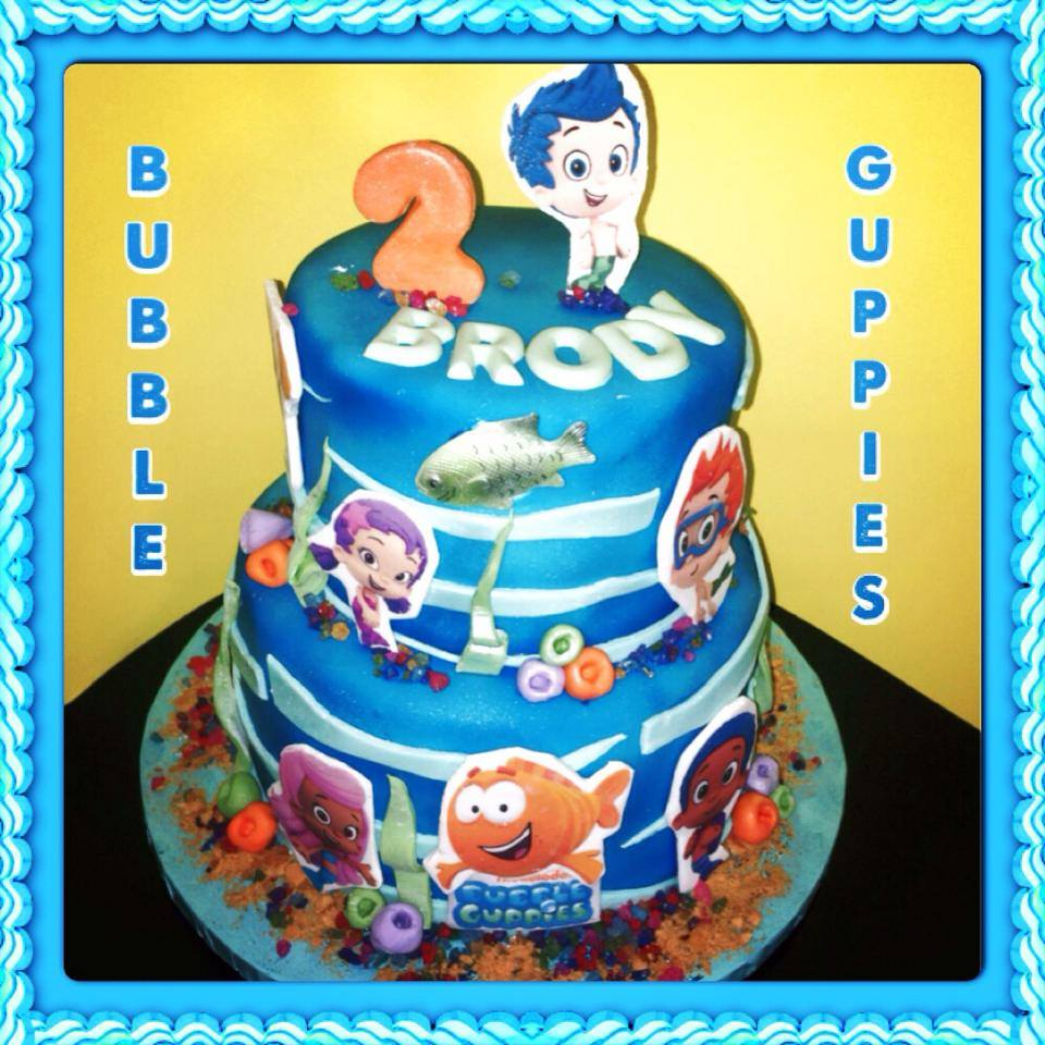Bubble Guppies Theme Cake