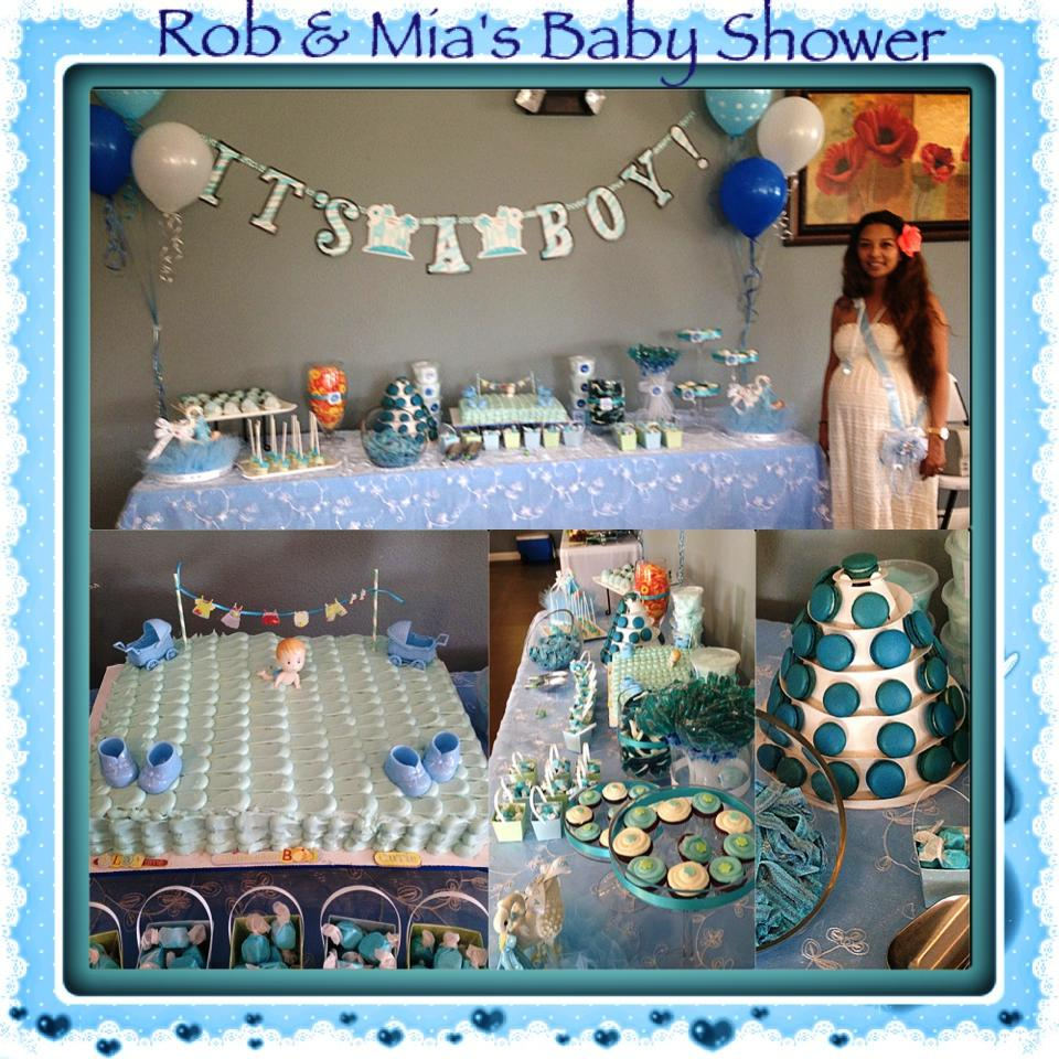 Blue Theme Dessert Table