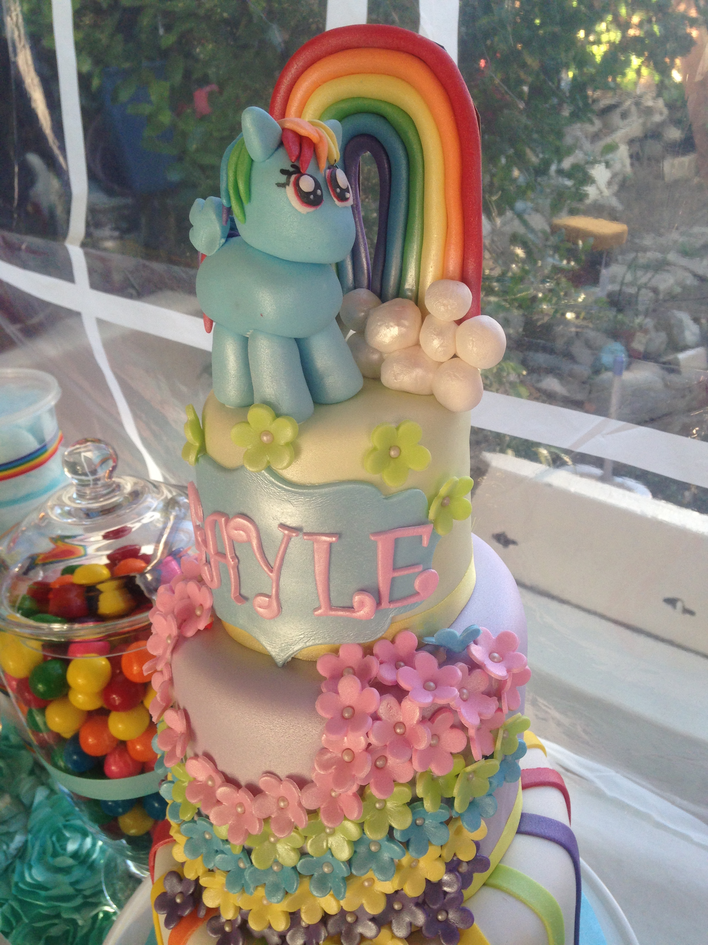 Hand Made Rainbow Dash Cake Topper