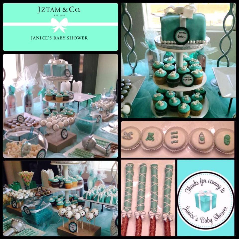 Tiffany & Co Theme Dessert Table