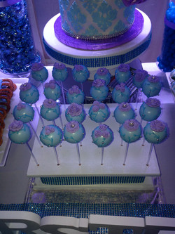 Blue and Orchid Cake Pops