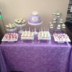 Lavender Theme Dessert Table