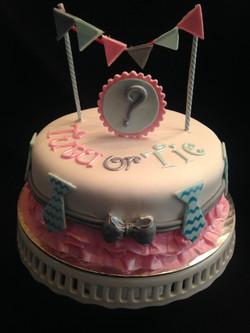 Tutu or Tie Gender Reveal Cake