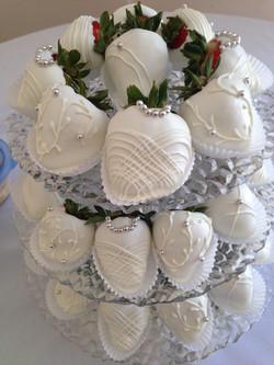 White on White Detail Strawberries