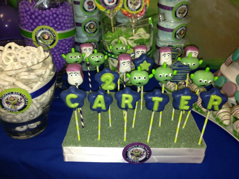 Toy Story 3 Theme Cakepops