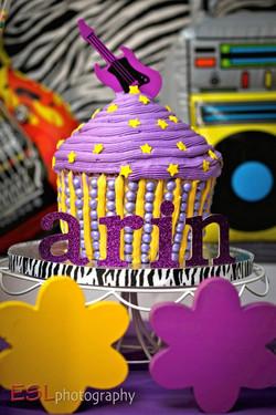 Rocker Chick Cupcake