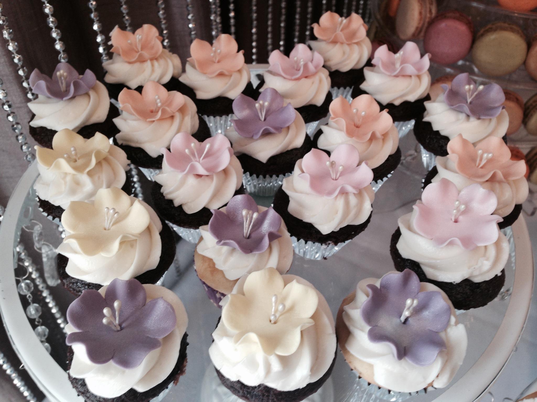 Flower Theme Cupcakes