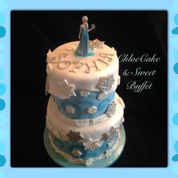 Elsa (Frozen) Cake