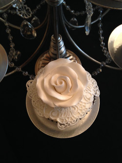 Rose and Lace Detail Cupcake
