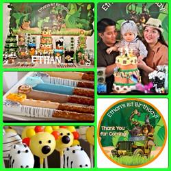 Safari Theme Dessert Table