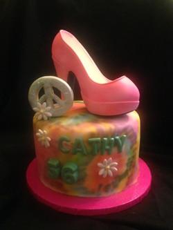 Hippy Theme Cake