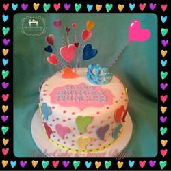 Multicolor Hearts Cake