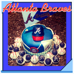 Antlanta Braves Theme Cake