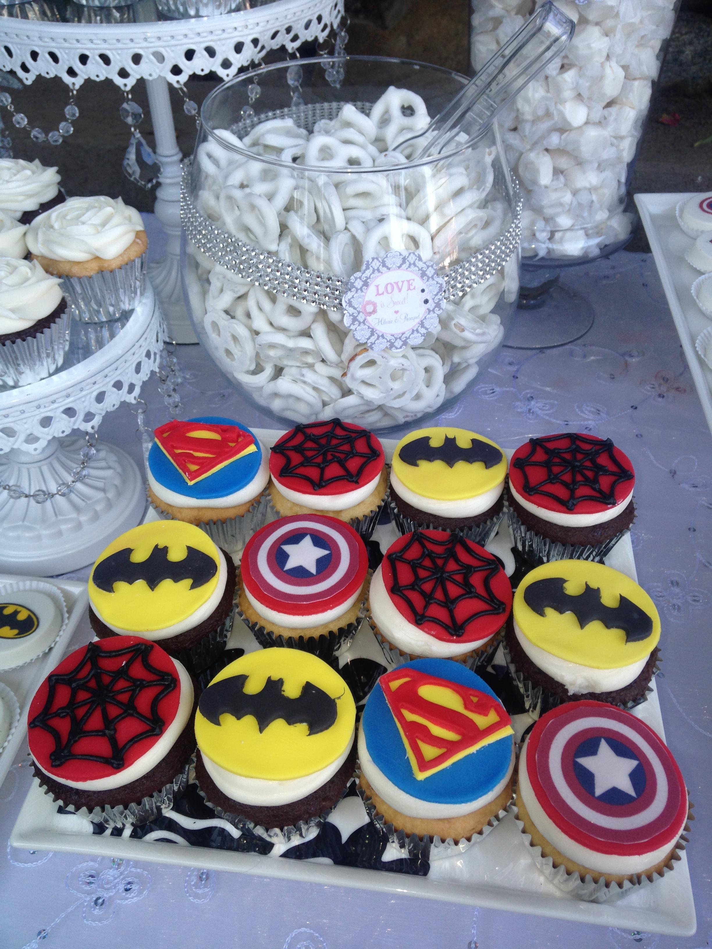 Marvel Heroes Theme Wedding Cupcakes
