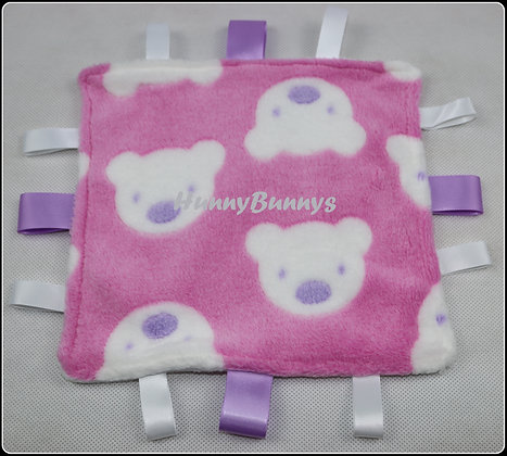 Pink Teddies mini comforter
