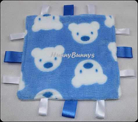 Blue Teddies mini comforter