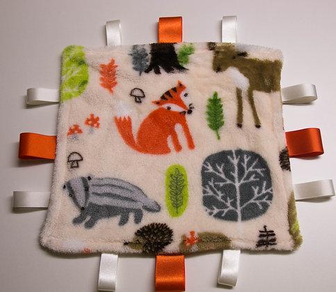 Cream forest friends, mini comforter