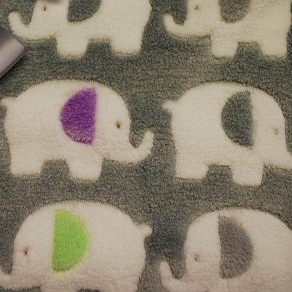 Grey elephants mini comforter