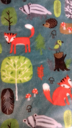 Green Forest friends mini comforter
