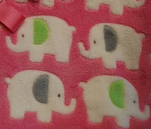 Pink elephants mini comforter