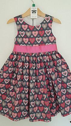 Pink & Grey Hearts
