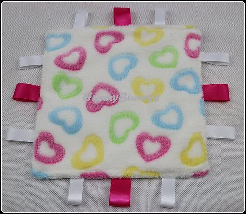 White Hearts mini comforter