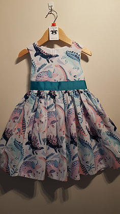 Pink Dinosaurs Dress
