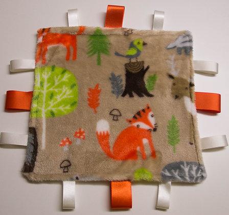 Beige Forest friends,mini comforter