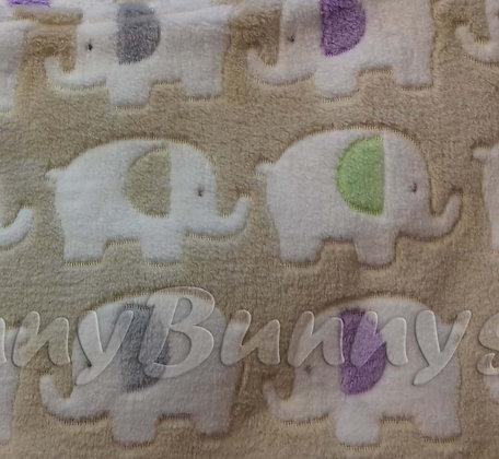 Beige elephants mini comforter