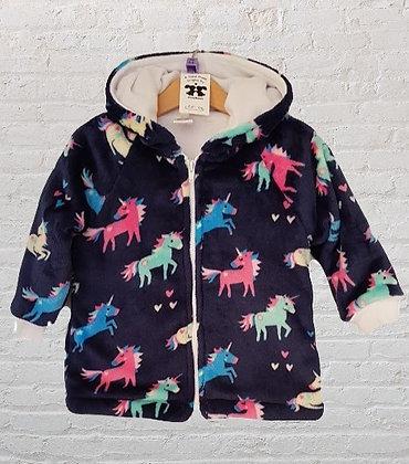 Navy unicorns jacket