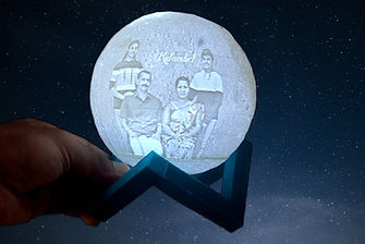 moon lamp persoslize and messege coustamize  3d printed moonlamp for gift