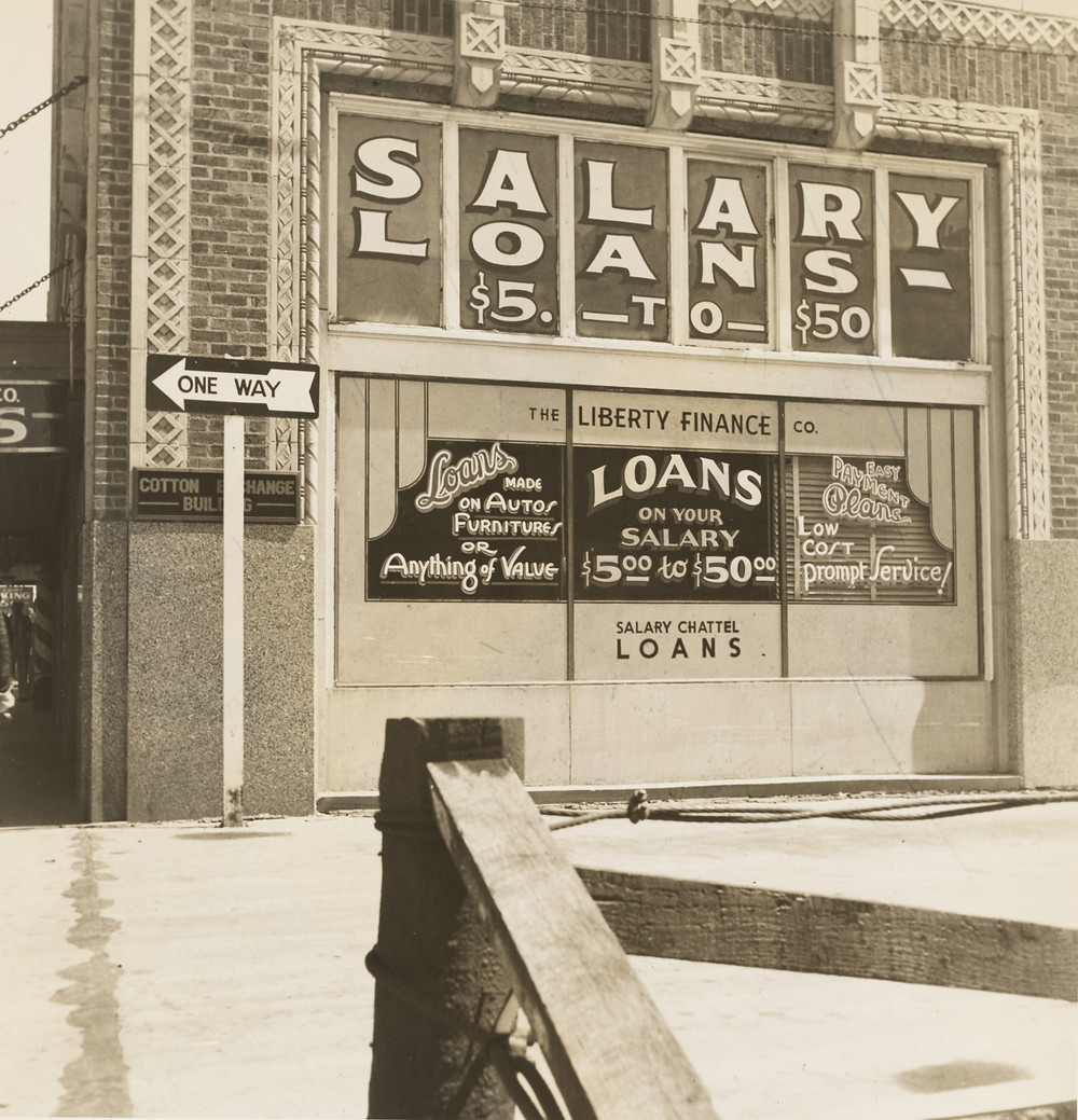 New York financial loans before the great depression