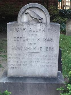 Edgar Allan Poe's Original Marker.