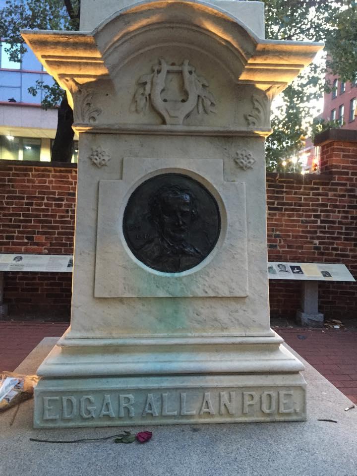 Edgar Allan Poe's Grave Marker Full