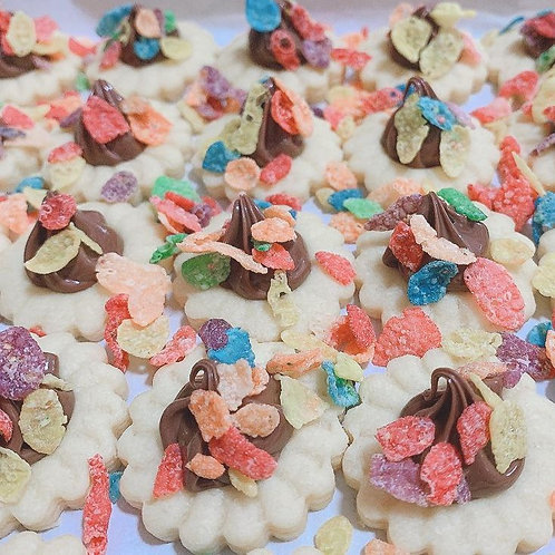 Fruity Pebbles Nutella Tart