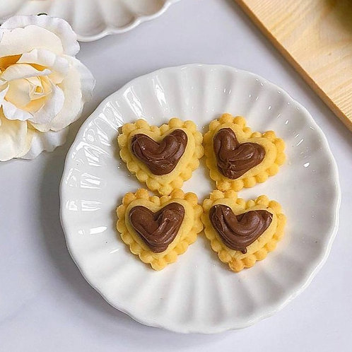 Heartshape Nutella Tart