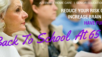Seniors who go to Back to School Reduce Dementia Risk