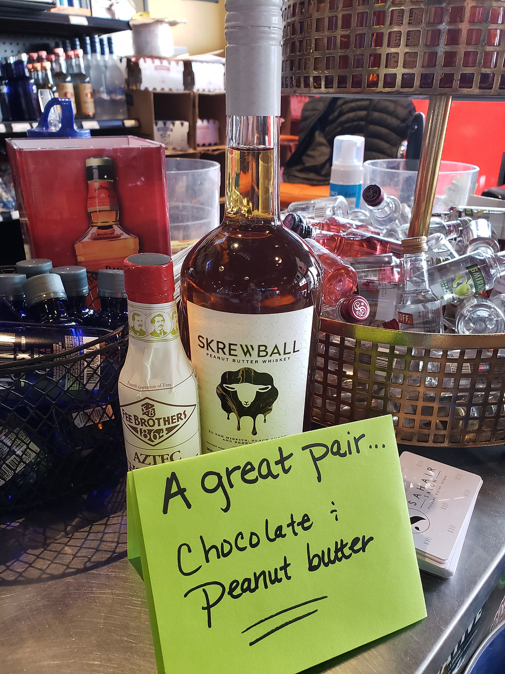 Skrewball Peanut Butter Whiskey and Chocolate Bitters